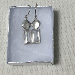 Silpada sterling silver and crystal drop earrings